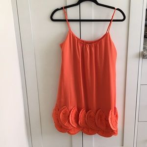 Short orange formal BCBG dress